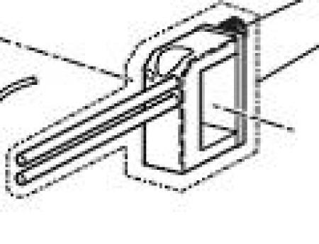 493694080 Крепеж для фотодатчика останова в сборе L=250